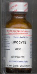 Click for details about Lipocyte 200C 1 oz with 800 pellets