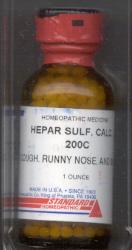 Click for details about Hepar Sulphur 200C 1 oz bottle with 680 pellets