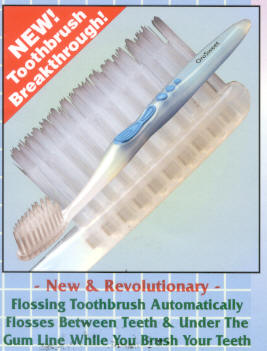 Click for details about Flossing Toothbrush NEW Antibacterial bristles 4 PACK